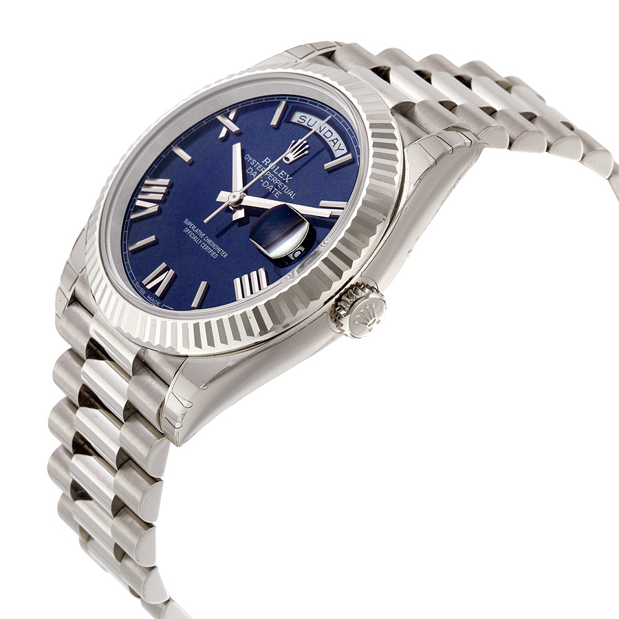 Replica Rolex Day-Date 40 Watches With White Gold Bracelets