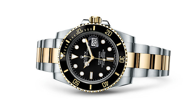 Rolex Oyster Perpetual Submariner Day-Date Replica Watches With Black Dials
