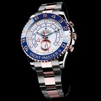 Rolex fake watches with white dials are in elegant style.