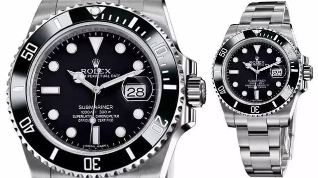 Rolex Submariner replica watches with black dials are all-matched for any clothing.