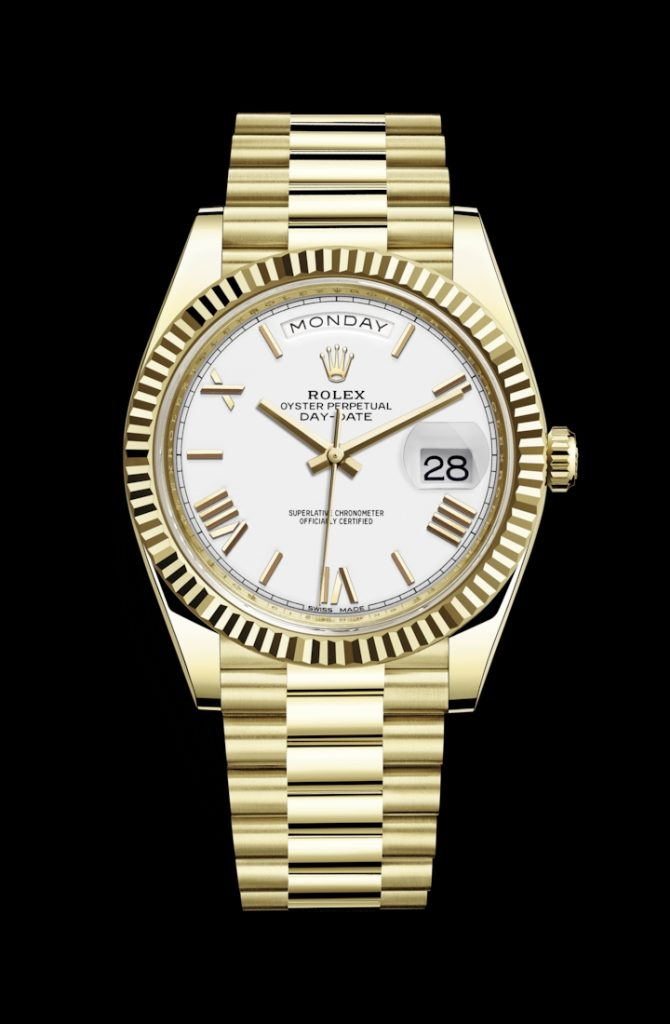 Classical Rolex replica watches are in pure white dials.