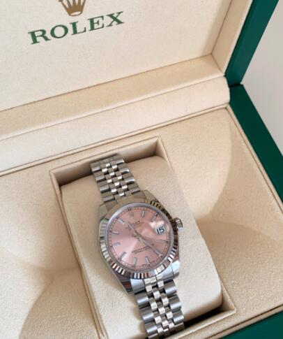 Swiss duplication watches online are fantastic with pink color.