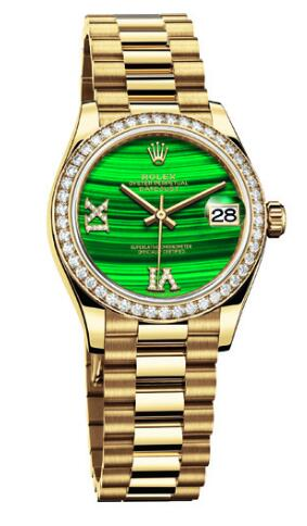 Swiss reproduction watches online are unique with malachite dials.