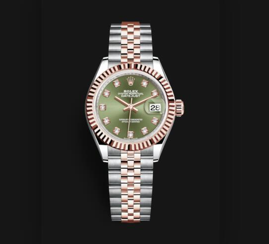 The 28 mm replica watches are decorated with diamonds.